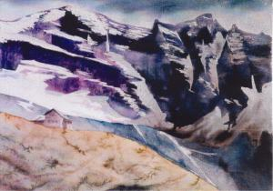 Alps-Gerauer Huette Watercolor 30x22