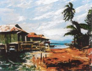 Malay Village Oil 24x36
